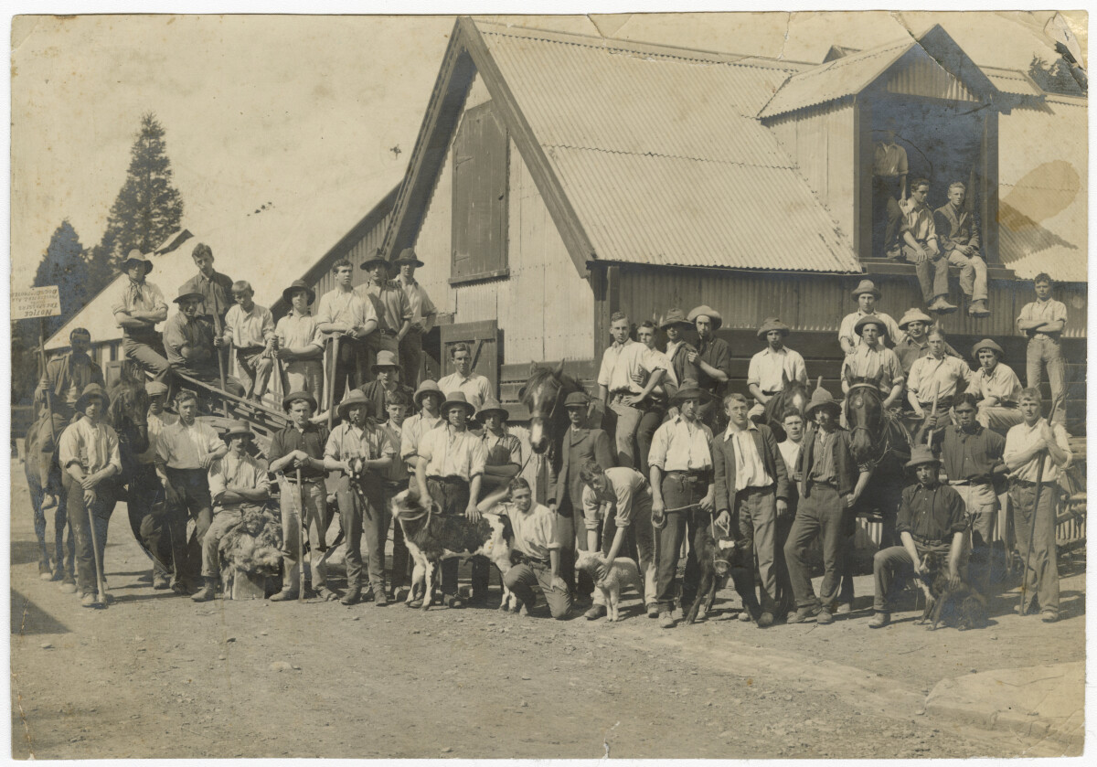 Lincoln College Students 1915. Christchurch City Libraries Photo Hunt. In copyright. </a></dt>  	<dd class=