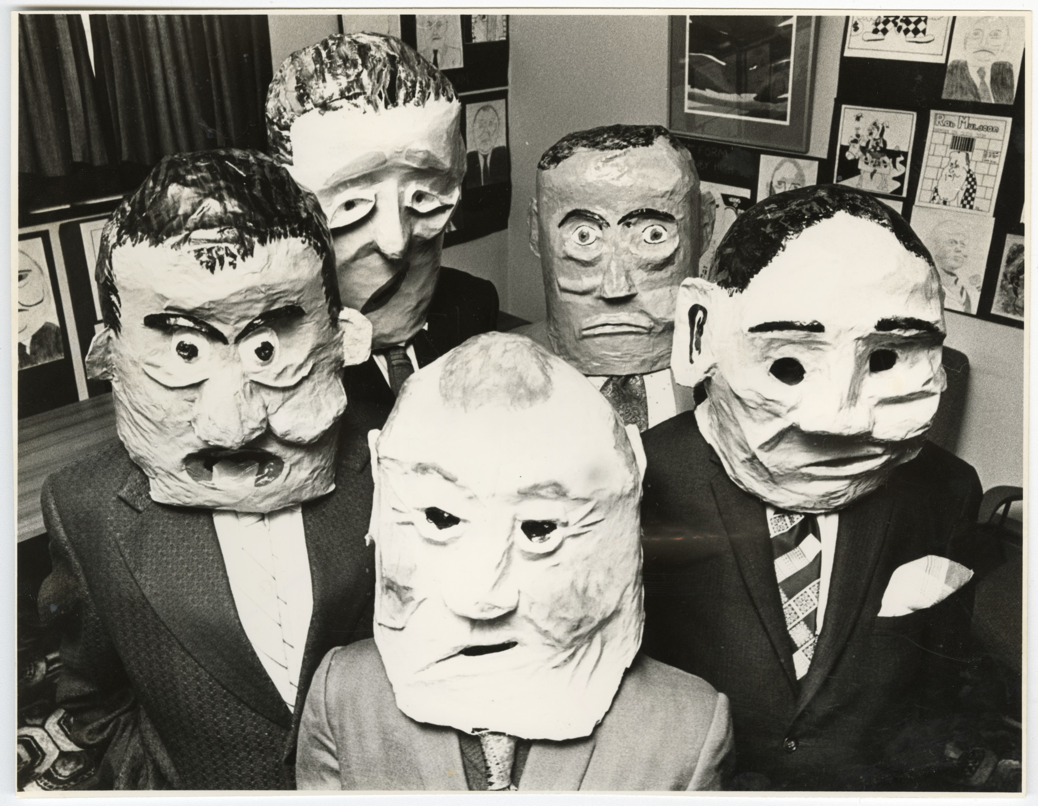Papier mache masks