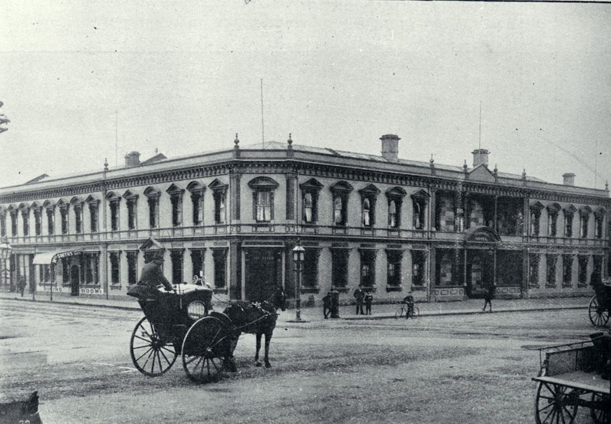 The Terminus Hotel opposite the Christchurch Railway Station