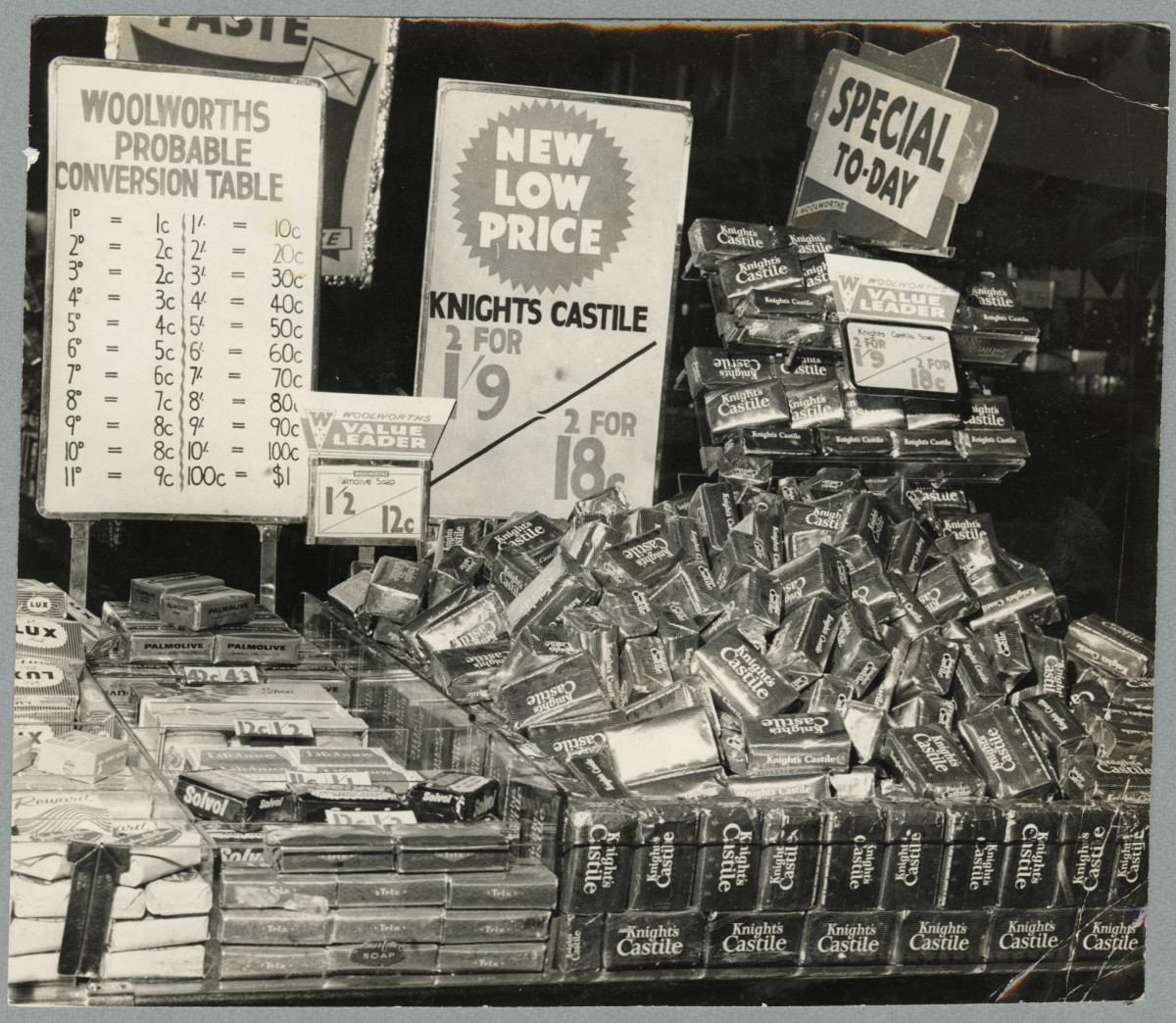 Soap Display With Decimal Conversion Chart Woolworths