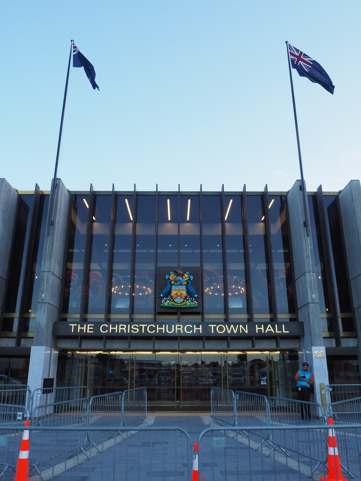 Christchurch Town Hall. 22 February 2019. Christchurch City Libraries collection. https://discoverywall.nz/media/71651